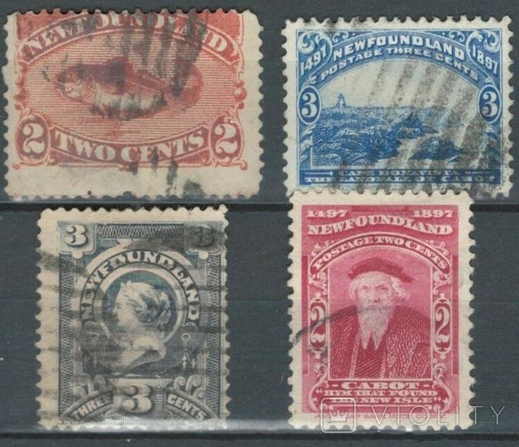 Бе08 Британские колонии. Ньюфаундленд 1887-1898 (14 евро)