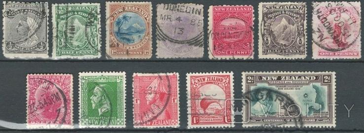 Бе10 Британские колонии. Новая Зеландия 1882-1940 (12 марок без повторов)