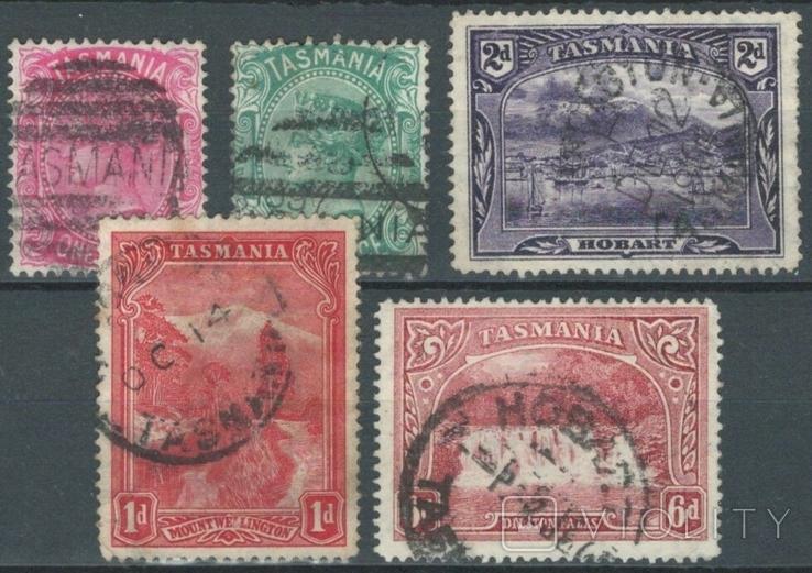 Бе12 Британские колонии. Тасмания 1878-1900 (вз TAS, 32 евро)