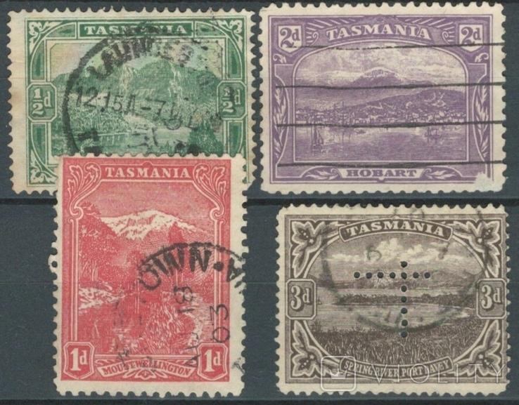 Бе13 Британские колонии. Тасмания 1902-1912