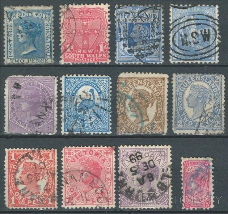Бе14 Британские колонии. Новый Южный Уэльс, Квинсланд, Виктория 1871-1899