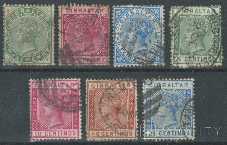 Бж01 Британские колонии. Гибралтар 1886-1889
