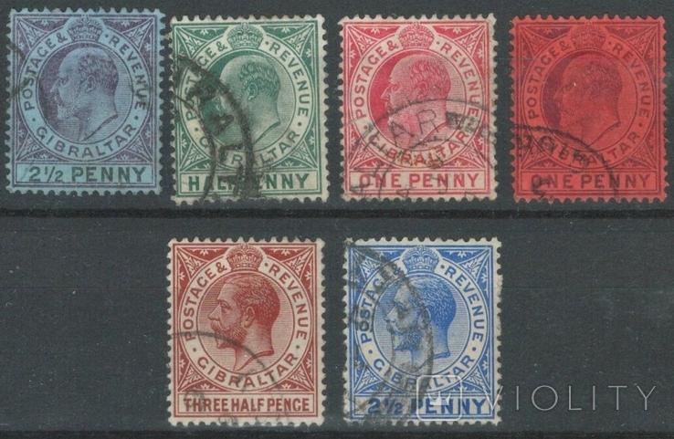 Бж02 Британские колонии. Гибралтар 1903-1921