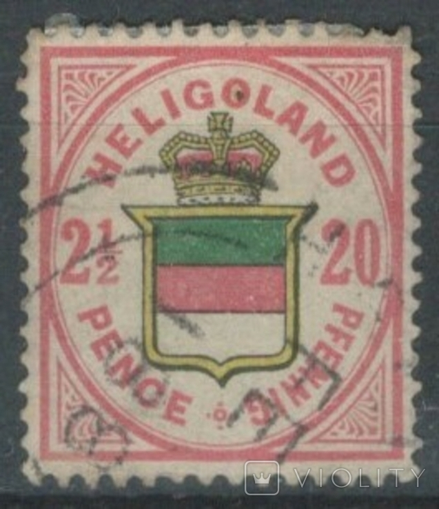 Бж05 Британские колонии. Гельголанд 1876 №18b (180 евро)