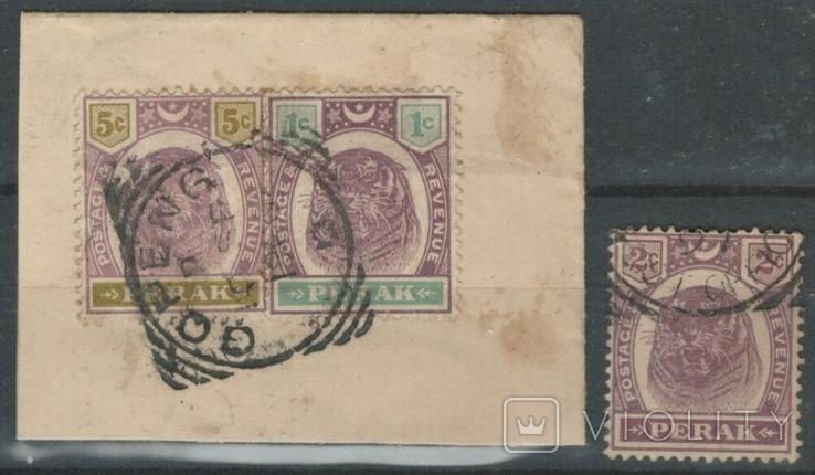 Бж06 Британские Малайские княжества. Перак 1895 №№ 19-20 и 23