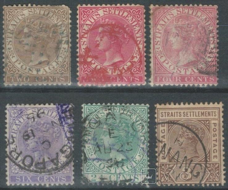 Бж07 Британские колонии. Стрейтс-Сеттлменс 1882-1883 (в/з СА, 88 евро)