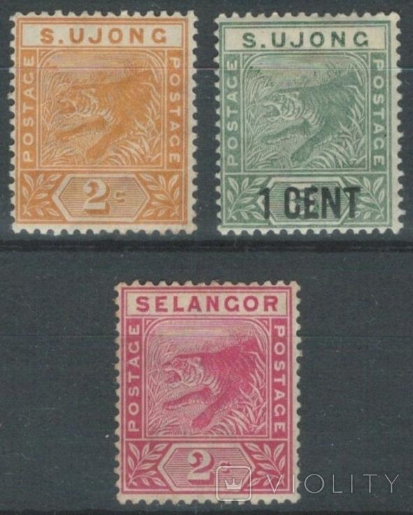 Бж08 Британские Малайские княжества. Сунгай-Юджанг и Селангор 1891-1895*