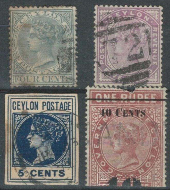 Бж09 Британские колонии. Цейлон 1879-1891