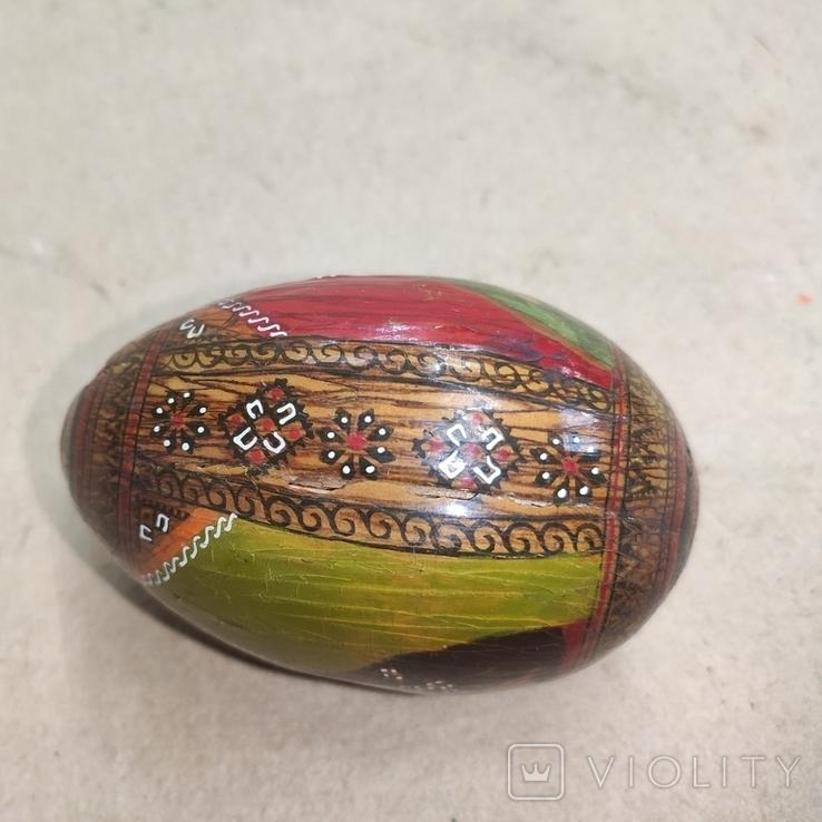 Расписное яйцо с изображением Богородицы и Спасителя., фото №3