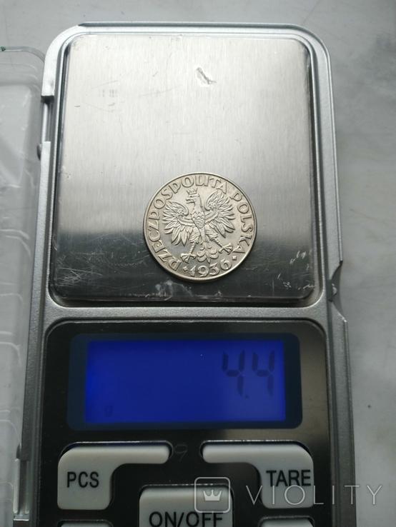 2 злотых 1936 Парусник, фото №3