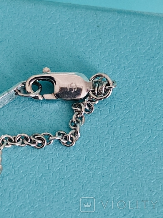 TiffanyCo платиновый крестик с цепочкой и бриллиантами, фото №9