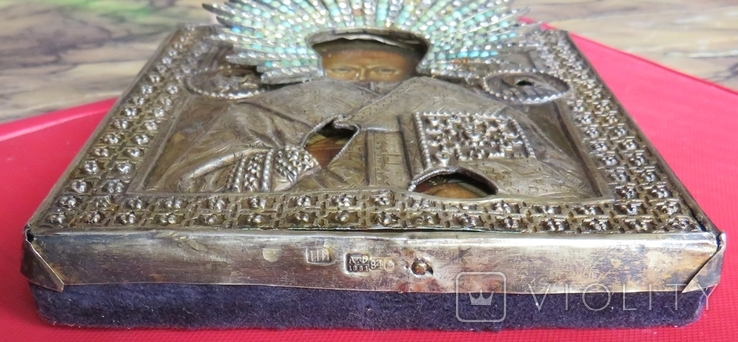 Икона Св.Николая ''На память отъ 12 гренадёрского полка/ 200 летъ., фото №8