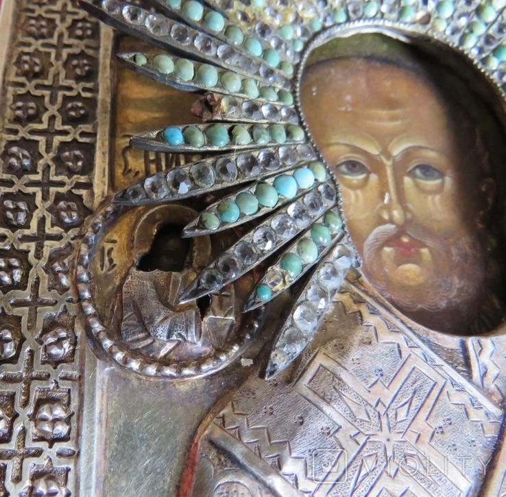 Икона Св.Николая ''На память отъ 12 гренадёрского полка/ 200 летъ., фото №11