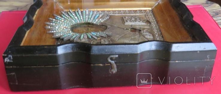 Икона Св.Николая ''На память отъ 12 гренадёрского полка/ 200 летъ., фото №13