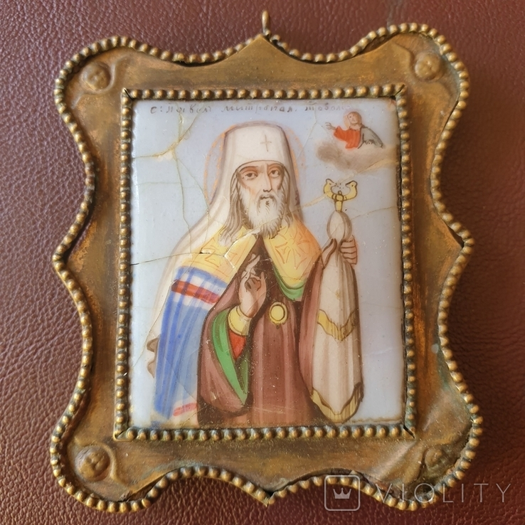 Финифть Святитель Павел митрополит Тобольский, фото №3