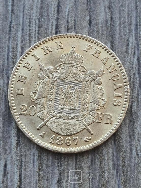 20 франків 1867 A року, фото №2