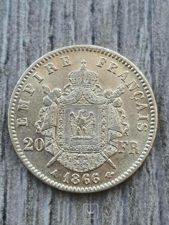 20 франків 1866 A року, фото №2