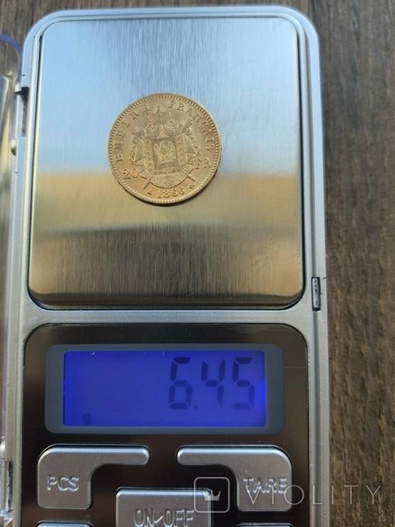 20 франків 1866 A року, фото №4