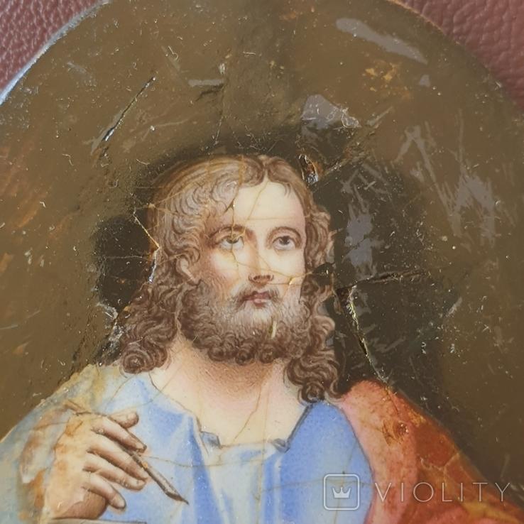 Финифть Святой с книгой, фото №4