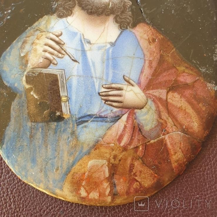 Финифть Святой с книгой, фото №5