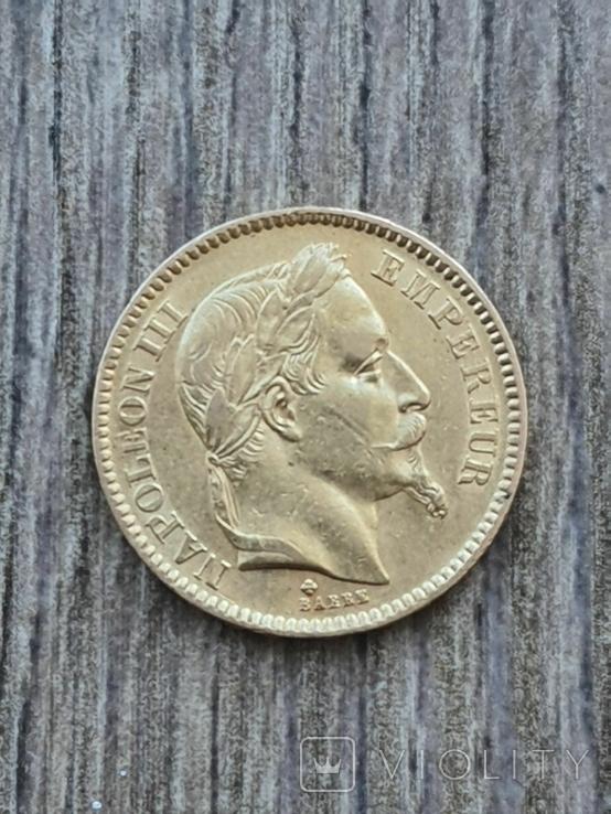 20 франків 1863 B року, фото №3