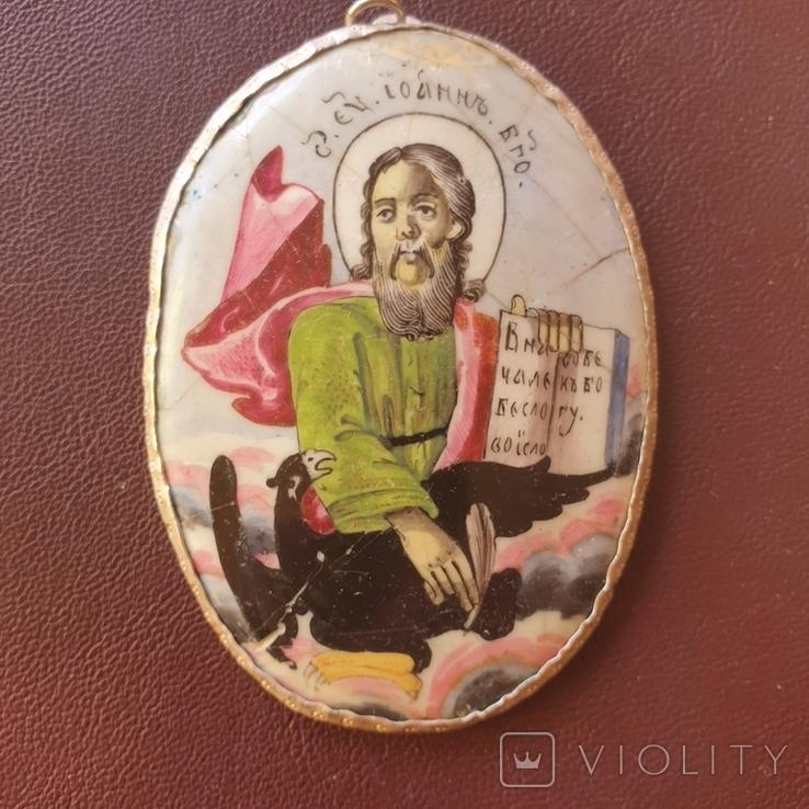 Финифть Иоанн Богослов, фото №3