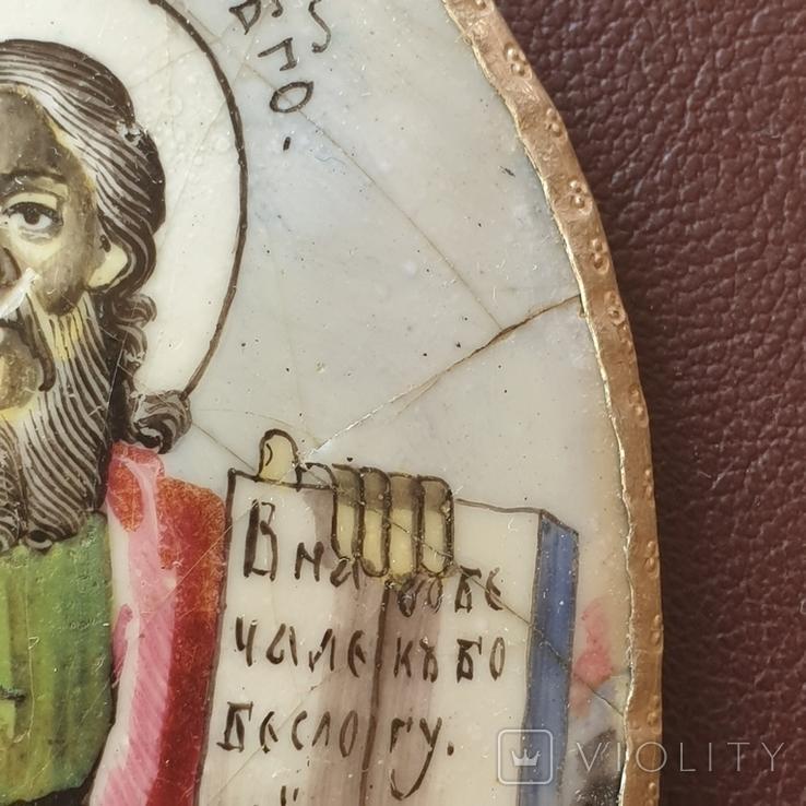 Финифть Иоанн Богослов, фото №7