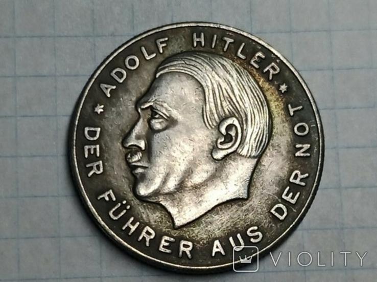 Адольф Гитлер 50 пфенигов копия, фото №3