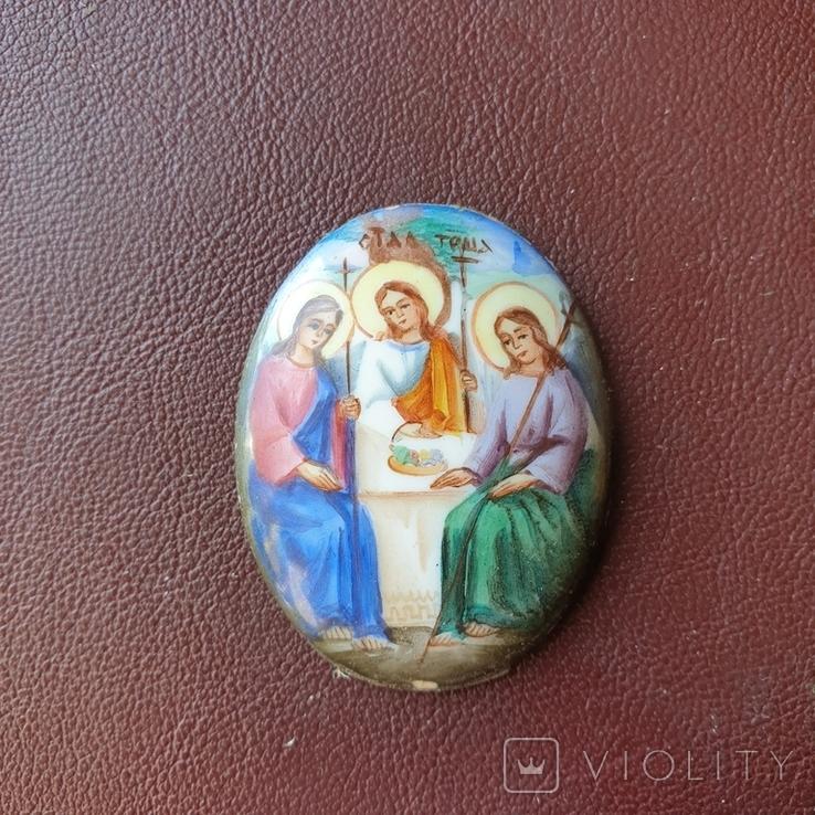 Финифть Святая Троица, фото №2