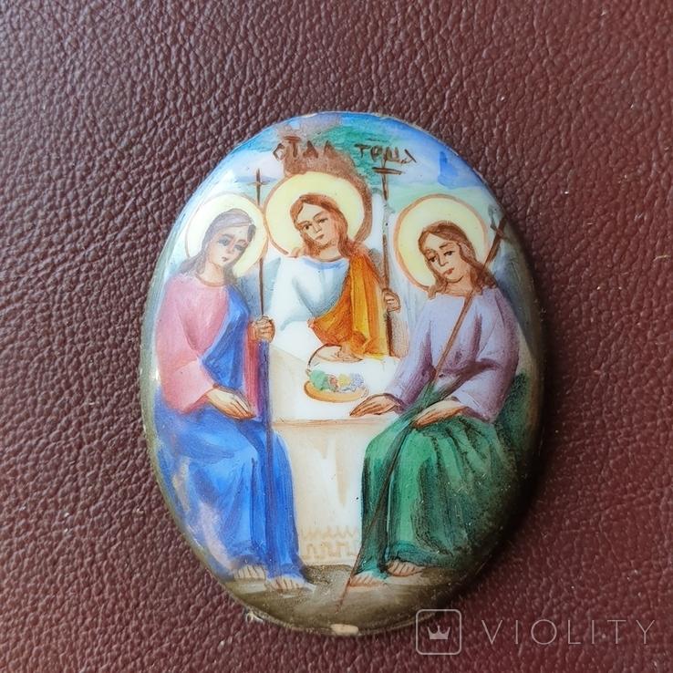 Финифть Святая Троица, фото №3