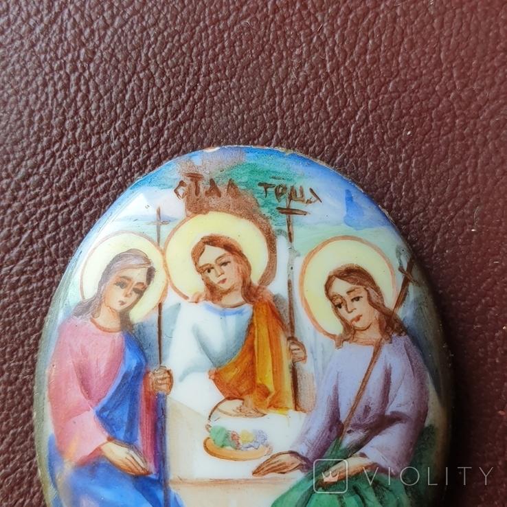 Финифть Святая Троица, фото №4