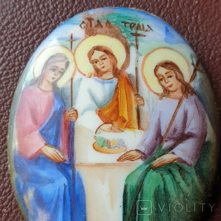 Финифть Святая Троица, фото №6