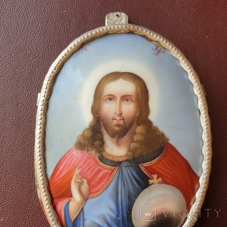 Финифть большая Исус Вседержатель, фото №3