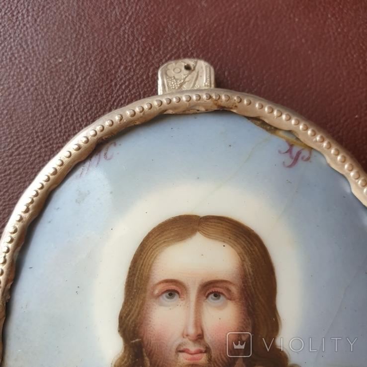 Финифть большая Исус Вседержатель, фото №7
