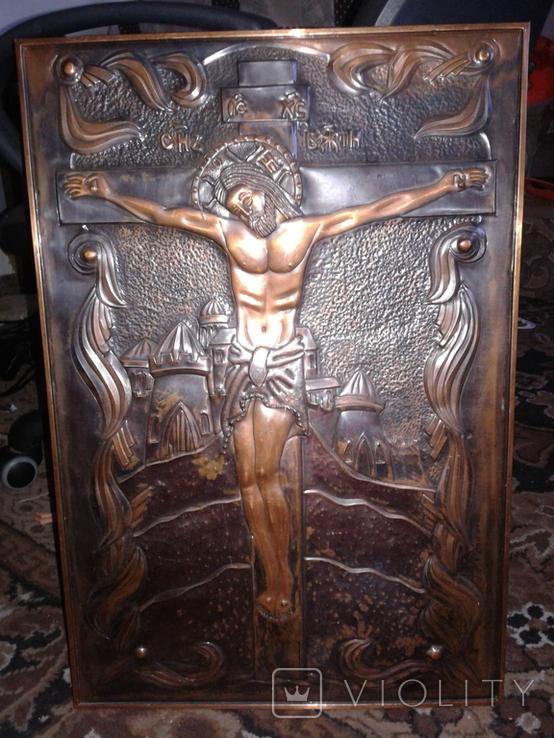 Икона Роспятие медная (57390.07 см), фото №2
