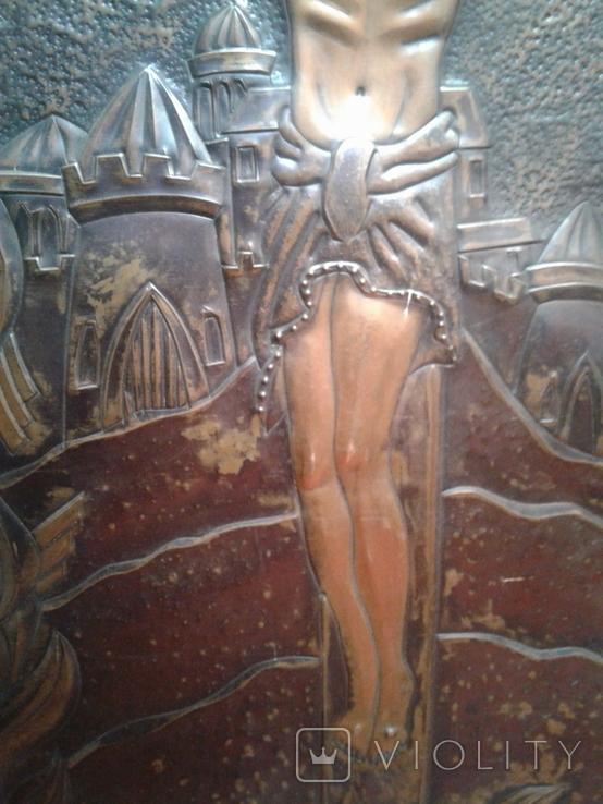 Икона Роспятие медная (57390.07 см), фото №6
