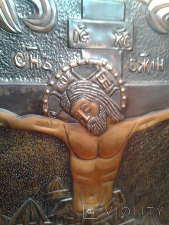 Икона Роспятие медная (57390.07 см), фото №7