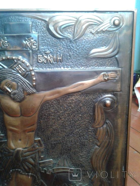 Икона Роспятие медная (57390.07 см), фото №9