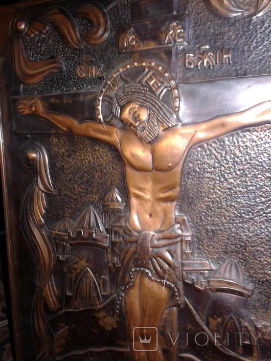 Икона Роспятие медная (57390.07 см), фото №13