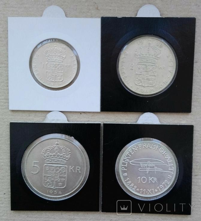 Четыре монеты Швеции(одним лотом)., фото №2