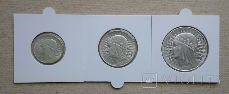 Три монеты Польши(одним лотом)., фото №2