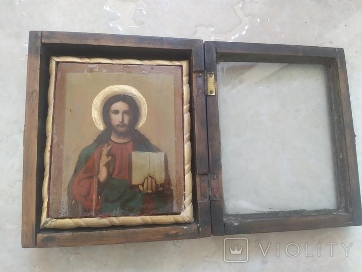 Вседержитель Икона в киоте, фото №2