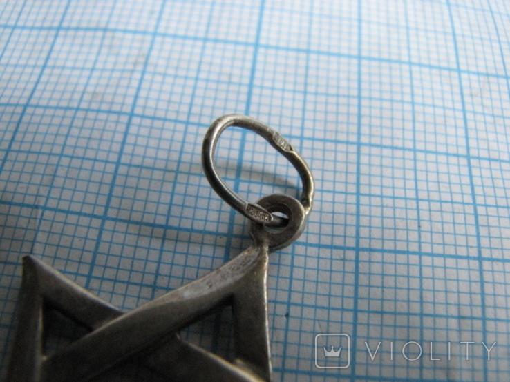 Кулон Звезда Давида серебро 925пр. вес - 5,4г, фото №5