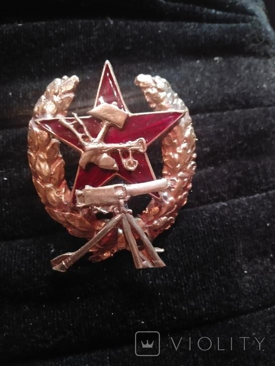 Знак командир РККА пулеметчик, копия, фото №2
