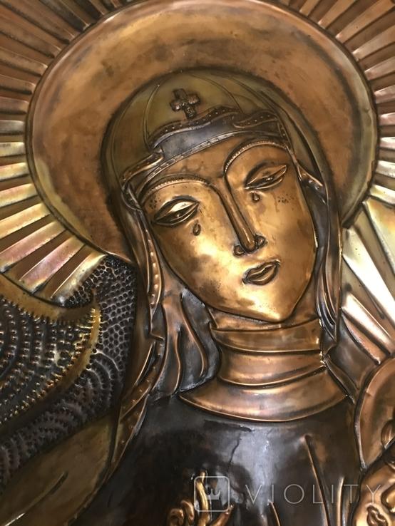 Чеканка на стену Дева Мария, фото №4