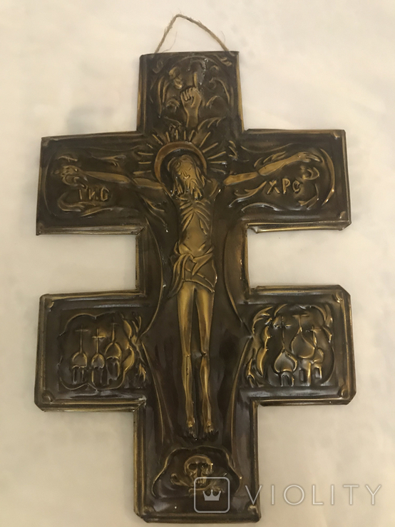 Чеканка православный крест, фото №2