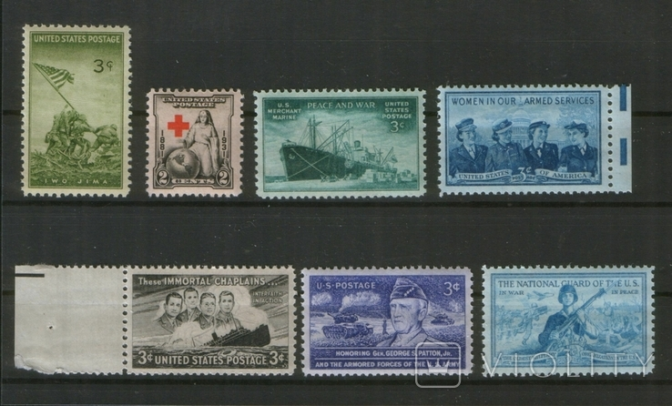 1940-48 США Вторая Мировая война, лот 9 шт., фото №2