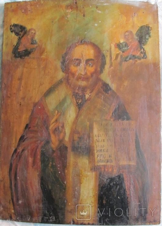 Св. Николай , размер 61.5 см х 44 см х 2.8 см - большая., фото №3