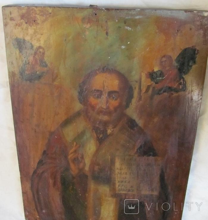 Св. Николай , размер 61.5 см х 44 см х 2.8 см - большая., фото №8