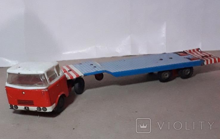 Машина грузовик+прицеп SpecialtransportMS Brandenburg ГДР GDR 1960-е жесть жестяная, СССР, фото №2